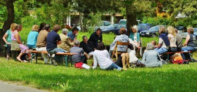 Meeting im Grünen
