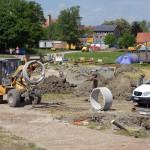 Baustelle des neuen Platzes für experimentelles Wohnen