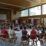auch im August dann das Gemeinschaftscamp: Initiativen stellten sich vor und gemeinschaftsinteressierte Menschen lernten, tauschten sich aus und feierten.