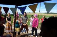 Feierliche Übergabe der neuen Jurte mit Küche