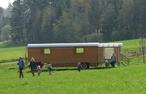 Bauwagen des Waldkindergartens, gesponsort von der Software AG-Stiftung